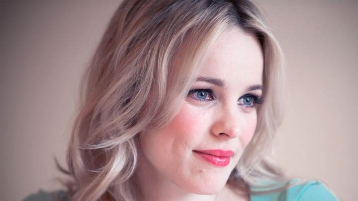 Rachel Mcadams Red Lips Smiling Side Face Closeup
